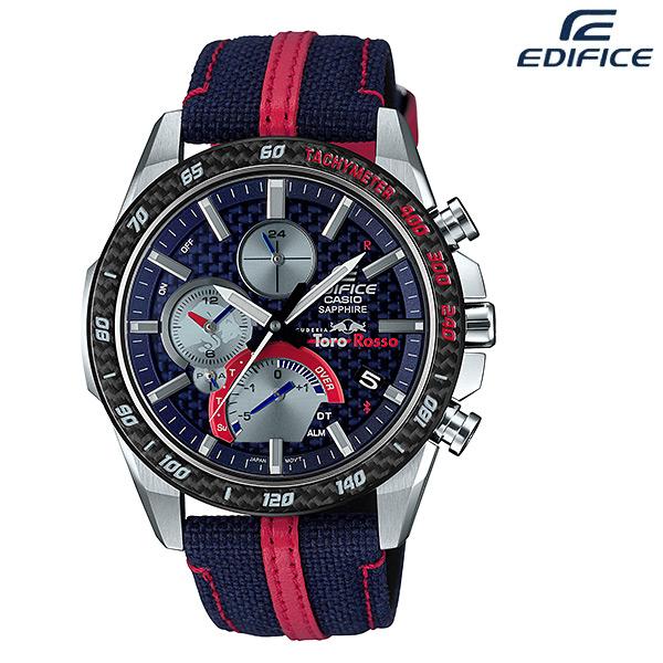 EDIFICE CASIO卡西歐 速度與智慧 紅牛二隊 聯名錶 賽車錶 太陽能電力 男錶 EQB-1000TR-2A