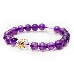 開光紫水晶女款生肖本命佛吉祥手珠手串手鏈