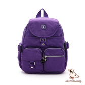 B.S.D.S冰山袋鼠 - 威尼斯假期 - 經典防潑水插袋後背包 - 薰衣紫【0015PR】
