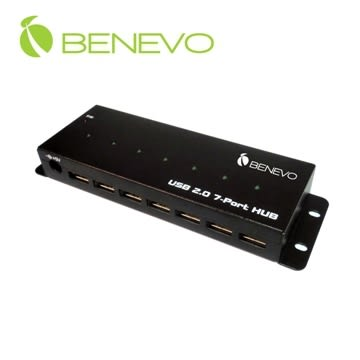 BENEVO UltraUSB 工業型 7埠USB2.0集線器(附3.5A變壓器) (BUH237)