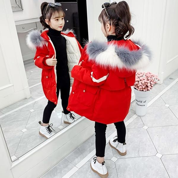 秋冬羽絨服潮流羽絨外套 韓版外套中大童上衣 兒童夾克外套加絨棉服 潮流洋氣女童外套女孩棉襖