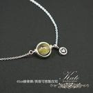 銀飾純銀項鍊 手作款 天然鈦晶 金光閃閃 小愛心 小星球 925純銀寶石項鍊 KATE 銀飾