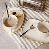 日式萬古燒杯子碟子套裝 創意復古陶瓷咖啡杯早餐杯粗陶水杯 挪威森林