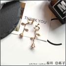 『坂井.亞希子』香檳玫瑰金屬質感玫瑰花造型耳環