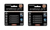 (贈8入電池盒) Panasonic eneloop pro 4號 (8顆) 950mAh 低自放電電池 BK-4HCCE4BTW【四號 AAA】 充電電池