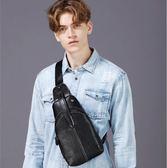 胸包 新款男士單肩韓版潮流斜挎軟皮質休閒腰包 YY5754『東京衣社』