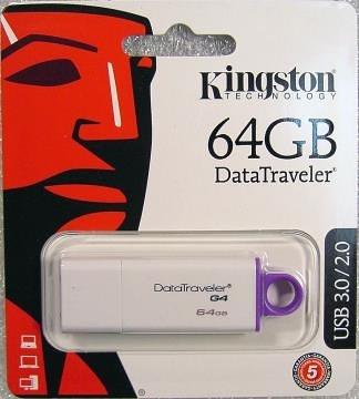 KINGSTON Data TravelerIG4 64G紫白 ( DTIG4/64GB )