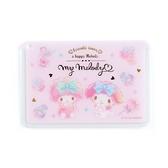 〔小禮堂﹞美樂蒂 日製方形塑膠票卡夾《粉白.甜點》證件夾.車票夾.卡套 4901610-14942