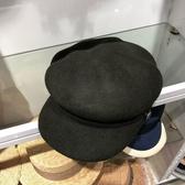 鴨舌帽-街頭休閒百搭個性女羊毛呢帽73tk46【巴黎精品】