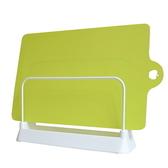 日本LEC砧板架+可彎曲薄砧板(芥末綠色)1片