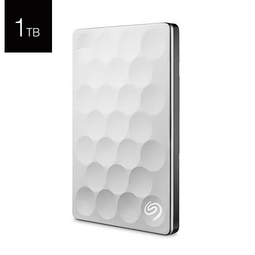 Seagate 希捷 Backup Plus Ultra Slim 1T B STEH1000300 白金色 2.5吋 行動硬碟