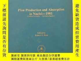 二手書博民逛書店pion罕見production and absorption