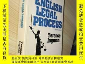 二手書博民逛書店The罕見English Legal Process(英文原版)