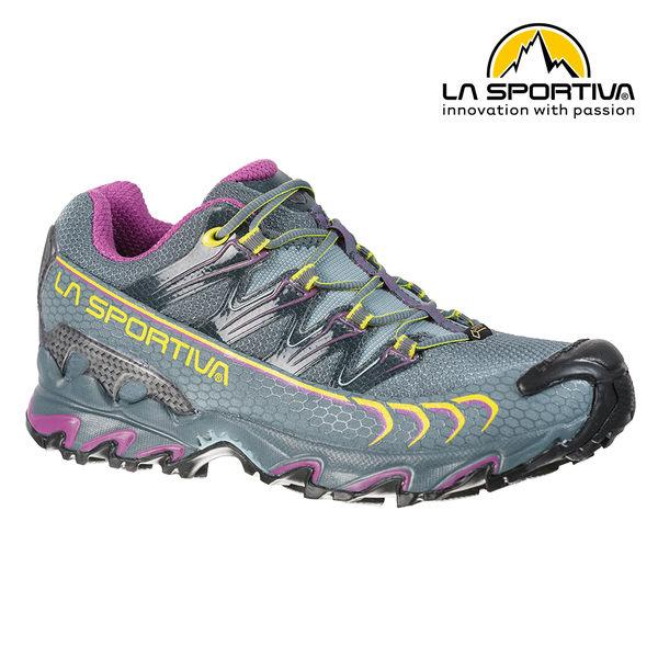 【義大利 LA SPORTIVA】ULTRA RAPTOR GTX 防水透氣越野跑鞋 石版灰/紫 女款 #26S903500