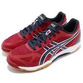 【六折特賣】Asics 排羽球鞋 Rote Japan Light 紅 深藍 膠底 男鞋 日本限定款 【PUMP306】 TVR490-2358