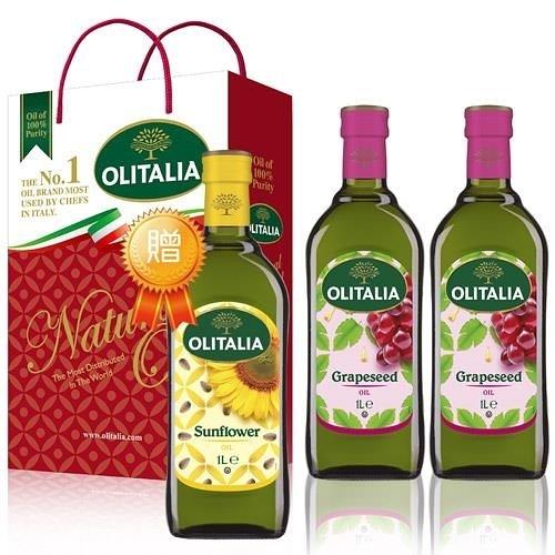 【南紡購物中心】奧利塔葡萄籽油禮盒2組(2罐/組)贈2瓶葵花油