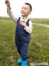 男女兒童連體下水褲親子抓魚釣魚服幼兒園玩水叉小孩水靴玩沙水衣 NMS樂事館新品