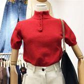 短袖T恤針織衫女休閒時尚套頭毛衣女上衣