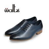 Waltz-復古刷色英倫時尚紳士鞋212128-07(藍)