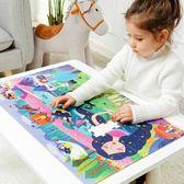 益智拼圖 彌鹿兒童104p睡美人恐龍紙質拼圖益智玩具寶寶智力拼圖組合 樂趣3c