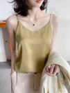 吊帶背心女 內搭夏季外搭配小西裝設計感小眾打底外穿真絲緞面上衣【快速出貨】
