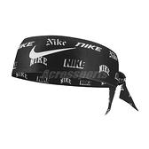 Nike 頭帶 NY VS NY Head Tie 黑 白 男女款 勾勾 髮帶 頭巾 運動休閒 【ACS】 N100334207-0OS