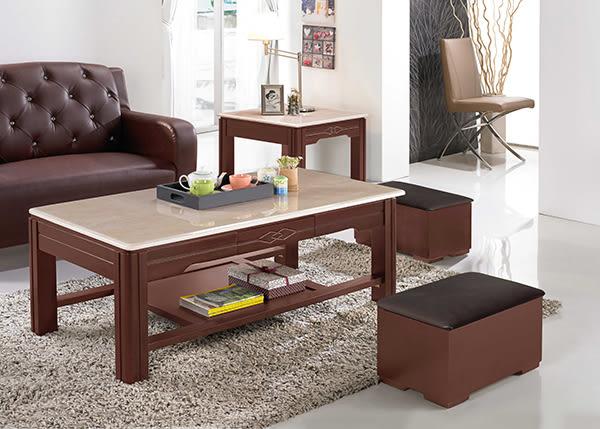 【南洋風休閒傢俱】茶几系列-  收納 人造石面桌 造型桌 胡桃桌 科修石面大茶几(JH533-9)