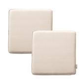 (組)新素色記憶棉坐墊40x40x4cm 米色2入