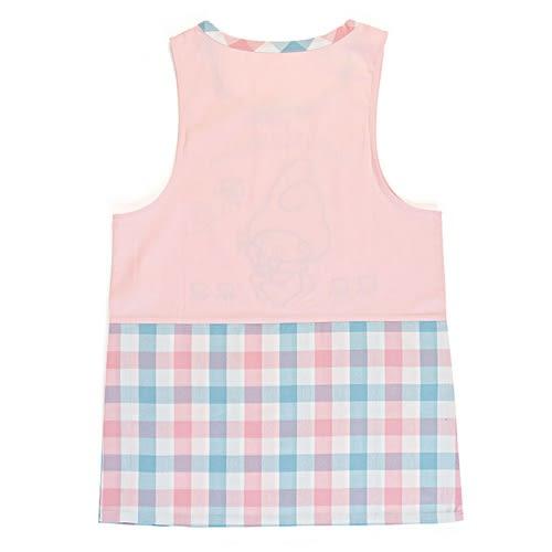Sanrio 美樂蒂罩衫式圍裙(藍粉格紋)★funbox★_654337A