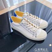夏季韓版男士帆布鞋學生帥氣小白鞋潮流時尚低幫板鞋花間公主