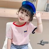嬰兒童純棉小童夏裝女童短袖T恤半袖上衣韓版T【邻家小鎮】