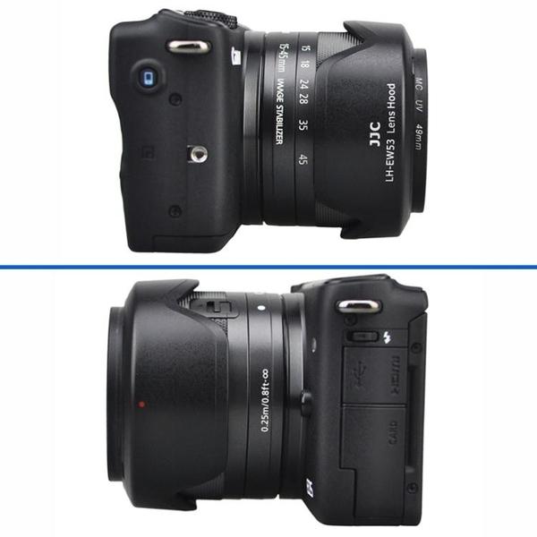 佳能EW-53遮光罩EF-M 15-45mm鏡頭EOS M50 M10 M5 M6 M3 M100 萬寶屋