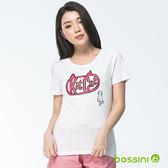 印花短袖T恤15白-bossini女裝