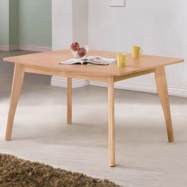 【艾木家居】韋勃5尺餐桌-原木色