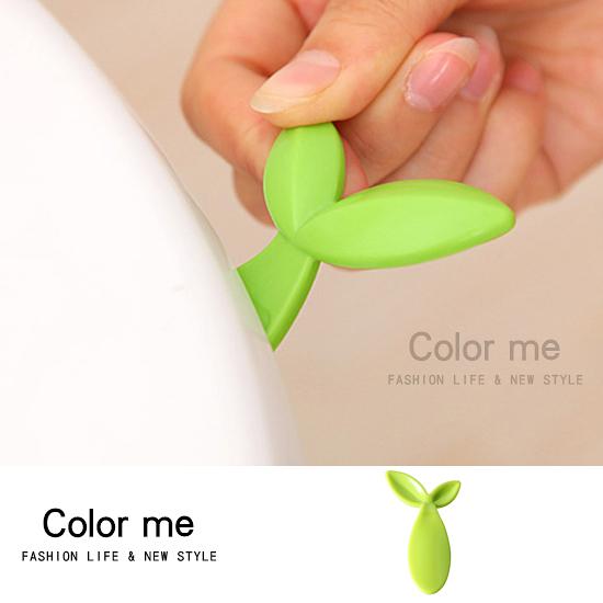 衛生 衛浴 掀蓋器 創意 手提 不髒手 清潔 乾淨 綠葉便捷式馬桶掀蓋器(長款) 【M024】color me 旗艦店