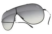 RayBan 太陽眼鏡 RB3597 00211 (黑-漸層藍綠鏡片) 飛翼造型款 # 金橘眼鏡