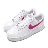 Nike 休閒鞋 Wmns Air Force 1 07 白 桃紅 女鞋 AF1 低筒 皮革鞋面 運動鞋【ACS】 CT4328-101