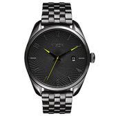 NIXON THE BULLET CHRONO先鋒網紋腕錶-灰亮面