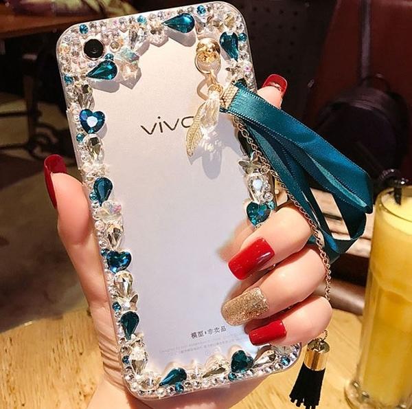 IPhone12 Pro Max 12mini iPhone11 SE2 XS Max IX XR i8 i7 Plus i6S 蘋果手機殼 水鑽殼 客製 手做 邊鑽流蘇