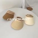 帽子女夏天草帽韓版INS空頂遮陽帽百搭網紅防曬紫外線沙灘太陽帽