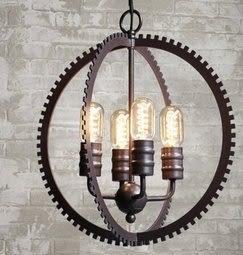 設計師美術精品館LOFT複古工業風吊燈設計師的創意齒輪服裝店吊燈美式餐廳樓梯吊燈