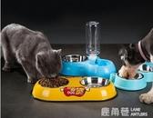 寵物碗 狗碗狗盆貓碗貓食盆泰迪狗狗雙碗貓咪中小型犬自動飲水器寵物用品『鹿角巷』