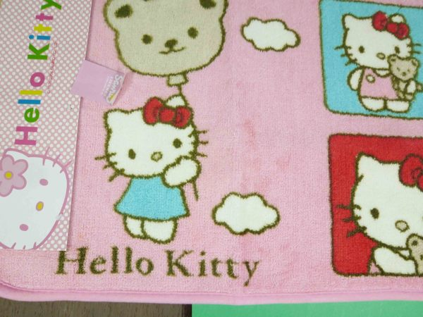 【震撼精品百貨】Hello Kitty 凱蒂貓~地墊~小熊圖案-粉色