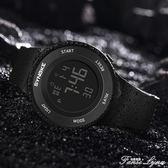簡約潮流男士手錶防水夜光男孩女中學生兒童鬧鐘多功能運動電子錶 范思蓮恩
