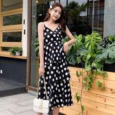 (工廠直銷不退換)6516-A新款性感女裝裙波點長裙吊帶連身裙網紅仙女蛋糕裙G-520-C韓依戀