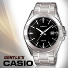 CASIO手錶專賣店 卡西歐  MTP-1308D-1A 男錶 黑面丁字 大錶面 礦物防刮玻璃 防水 三折式不鏽鋼錶帶