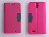 gamax完美系列 InFocus M320/M320u 簡約綴色側翻手機保護皮套磁吸插卡側立 內TPU軟殼 全包
