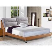 皮床 布床架 SB-084-4 露易莎6尺淺咖啡皮雙人床(不含床墊及床上用品)【大眾家居舘】