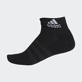 ADIDAS CUSH ANK 襪子 腳踝襪 腳掌加厚 慢跑 休閒 黑 (五入)【運動世界】DZ9368