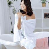 浴巾 浴巾純棉成人柔軟吸水男女全棉加厚大號浴巾毛巾家用可愛韓版套裝 俏女孩